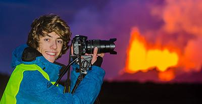 Lukas Gawenda am Bardarbunga-Vulkanausbruch auf Island (2014)