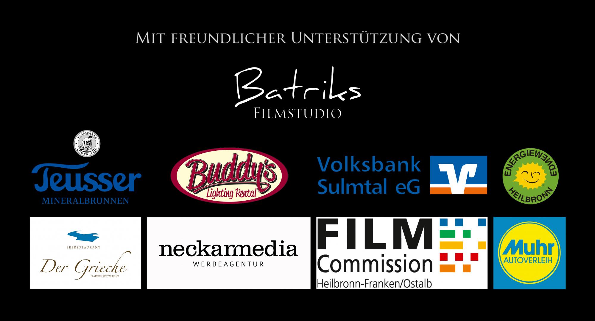 """Sponsoren, Kooperationspartner und Unterstützer des Kurzspielfilms """"Gespalten"""" von Lukas Gawenda"""